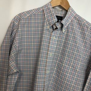 Brooks Brothers non iron blue red button shirt SzM